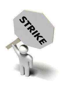 Schild mit Strike